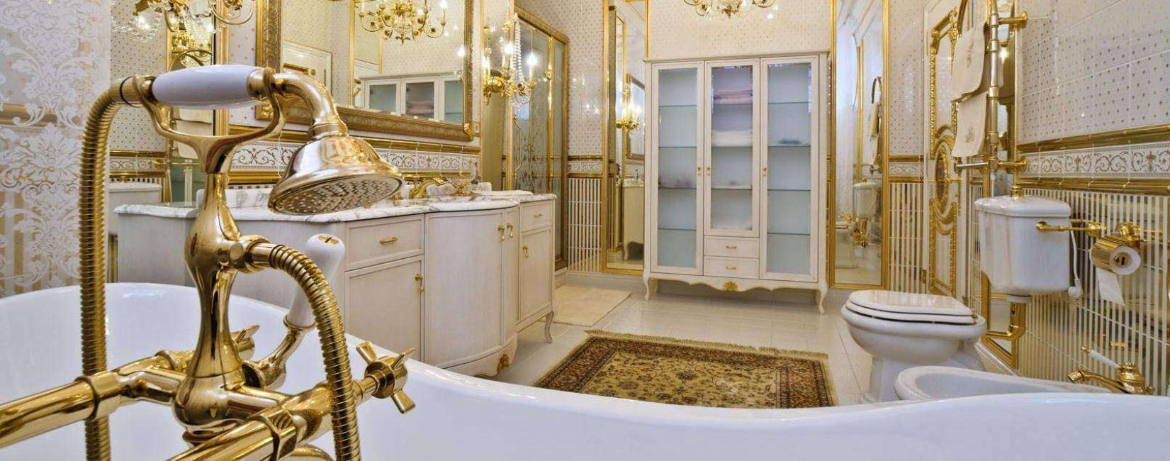 Ванная в золоте - красиво и богато