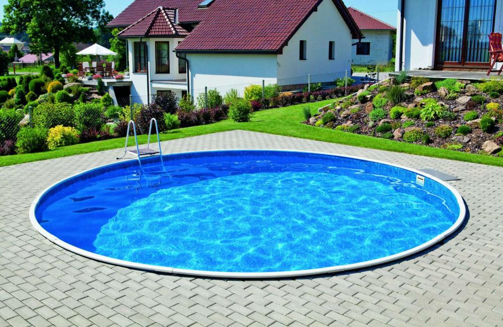 Морозоустойчивый круглый каркасный бассейн