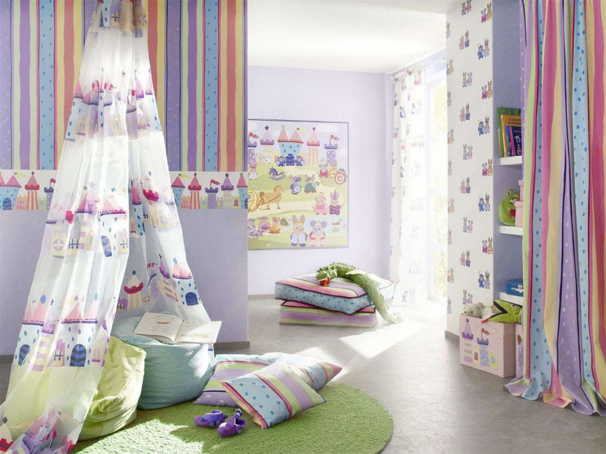 Выбор полоски для детской комнаты