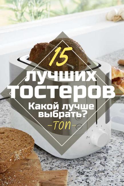 ТОП-15 рейтинга Лучших моделей тостеров