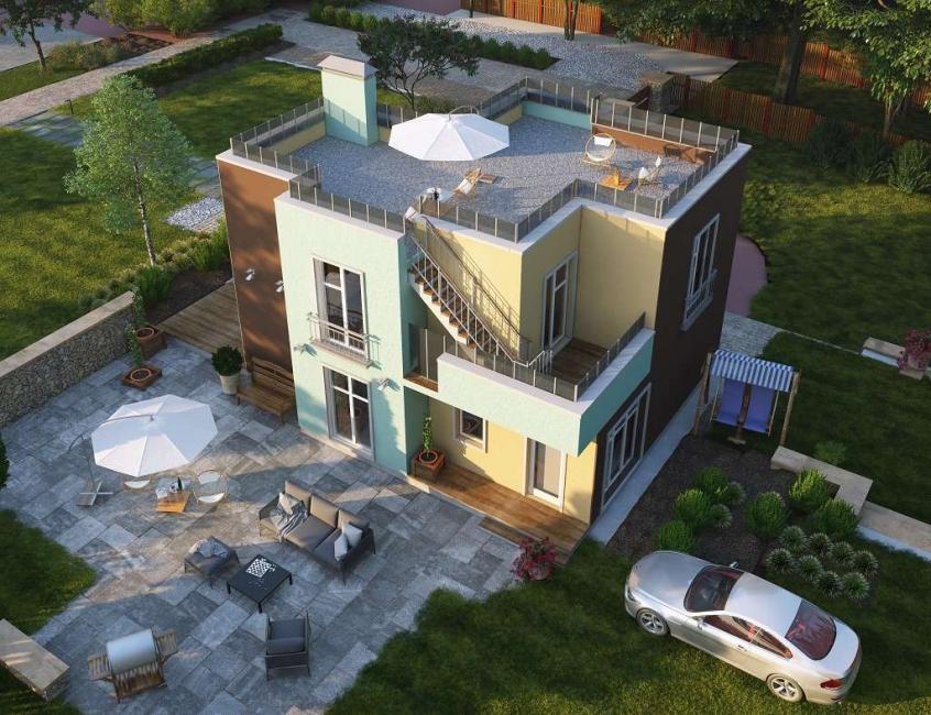 Сооружение площадки на крыше дома