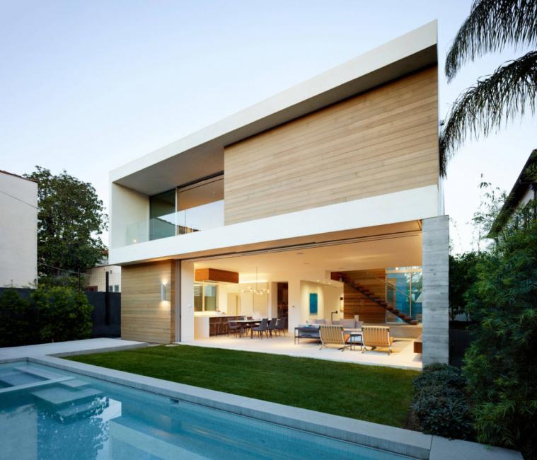Современный вариант дома с плоской крышей