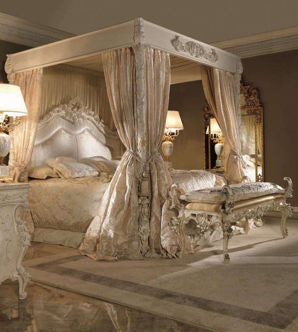 Балдахин способствует уюту в комнате