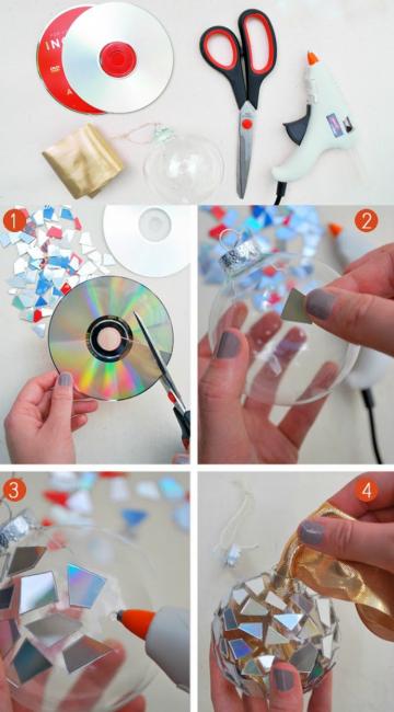 Шар из сд-дисков своими руками