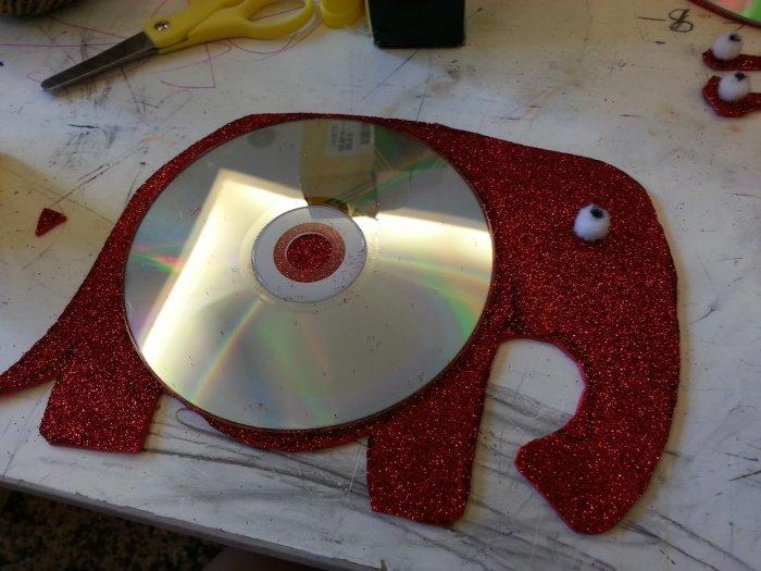 Миленький слоник из диска
