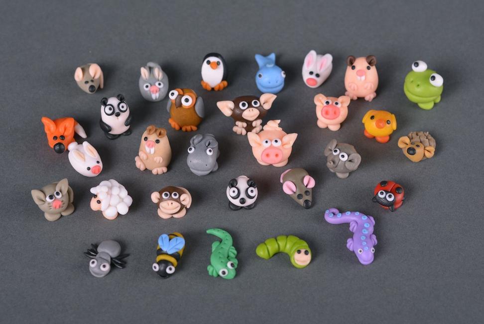 Красивые животные из полимерной глины