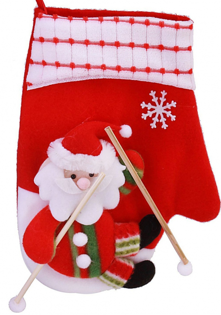 "Варежка ""Дед мороз на лыжах"""