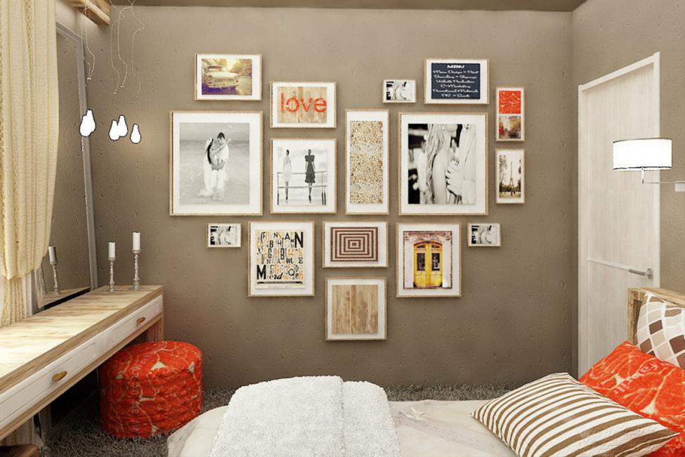 Модульные картины для спального пространства