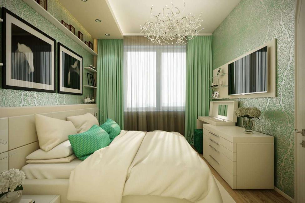 Зеленый цвет добавляет живости всему дизайну
