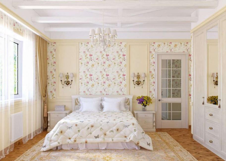 В спальне лучше использовать холодные цвета