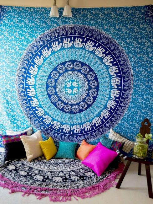 Наиболее распространенное применение гобелены получили в создании ковров
