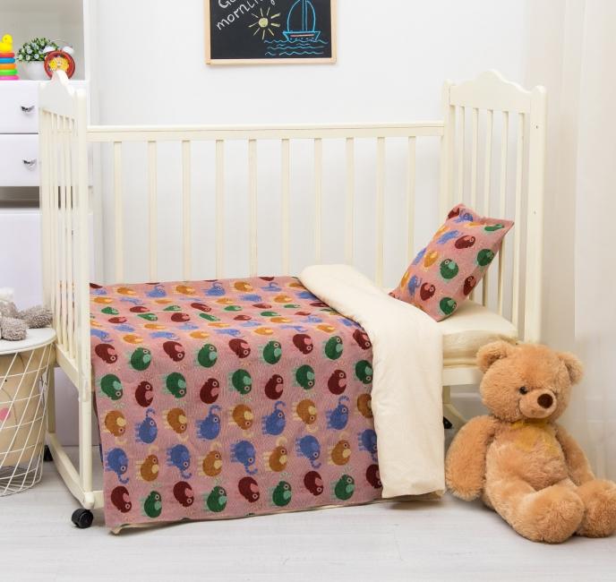 Покрывало с небесными слониками для детской комнаты