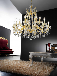 Хрустальные люстры в интерьере гостиной и спальни. Создаем красивое освещение: 150+Фото (потолочные, подвесные, классические)