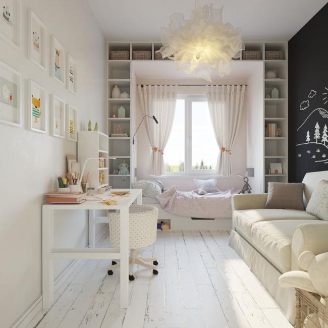 С таким цветом комната кажется больше и светлее