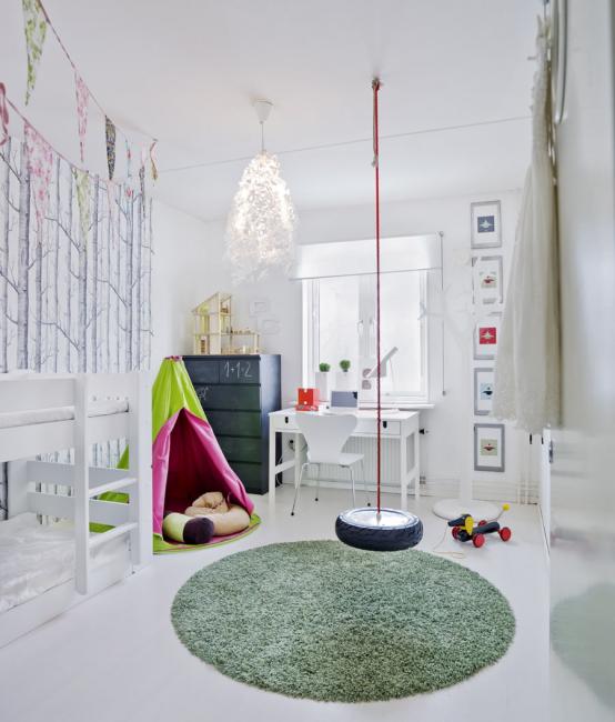 Чаще всего стены в детких комнатах стены красят