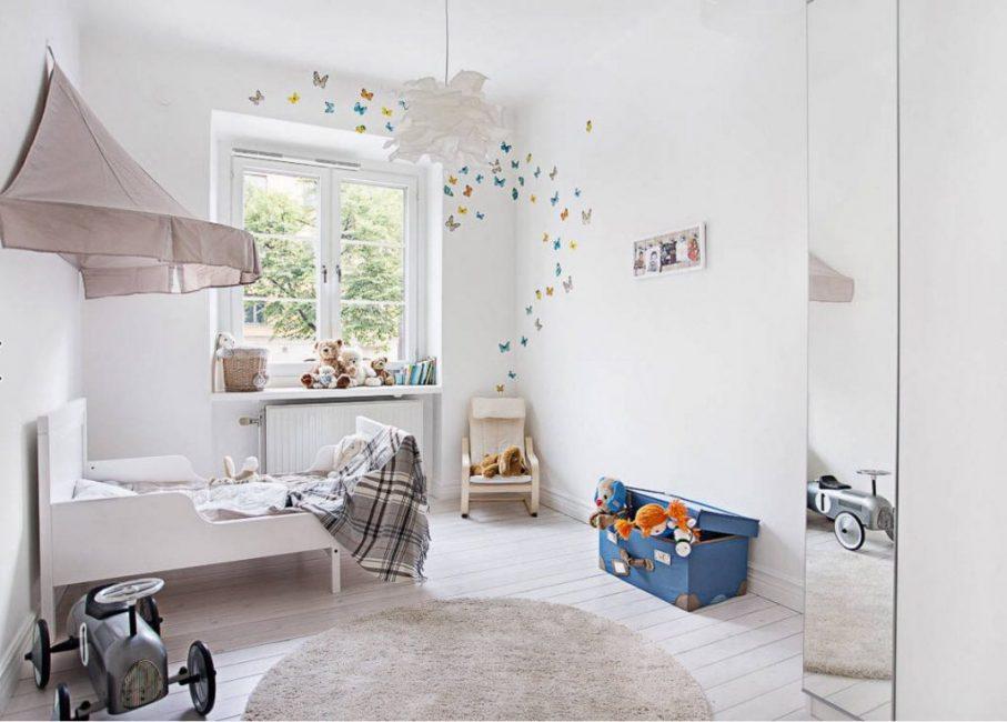 Нежные пастельные тона для комнаты маленького мальчика