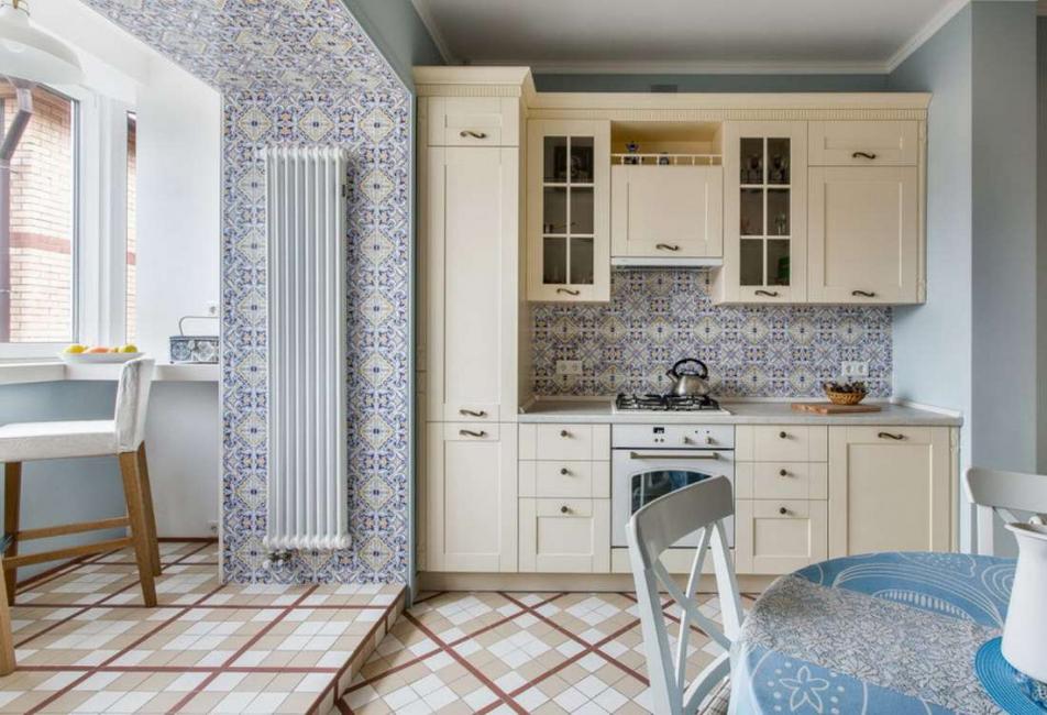 Не загромождайте небольшие кухонные площади лишней мебелью — только всё самое необходимое