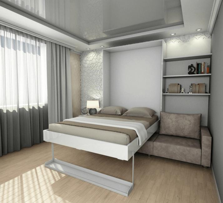 Кровать-трансформер - много свободного места