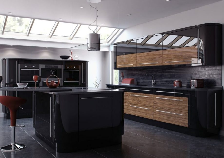 Сегодня, согласно веяниям моды, именно современный интерьер кухни тёмных цветов преобладает