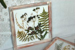 Изготовление поделок из сухих листьев на листе бумаги А-4 Своими руками + Мастер-класс: гербарий для декора