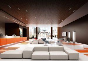 Потолок в комнате (натяжной, пластиковый, из гипсокартона, штукатурка). Беспроигрышные варианты дизайна + 310 ФОТО