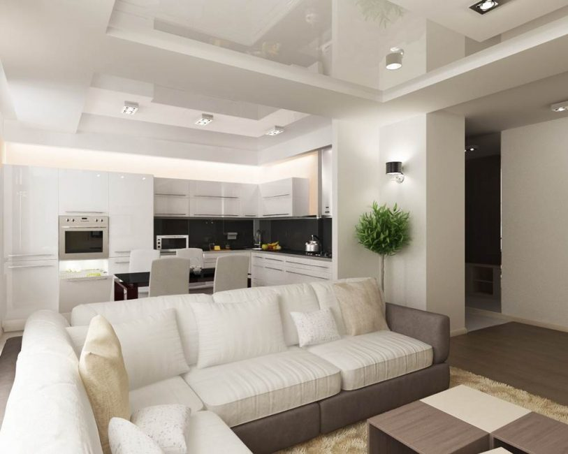 Скрыть огрехи помогут многоуровневые потолки