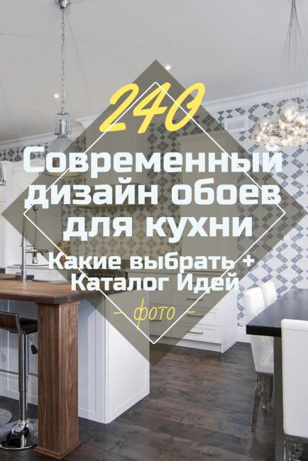 Современный дизайн обоев для кухни