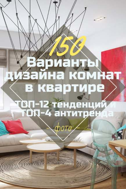 Варианты дизайна комнат в квартире