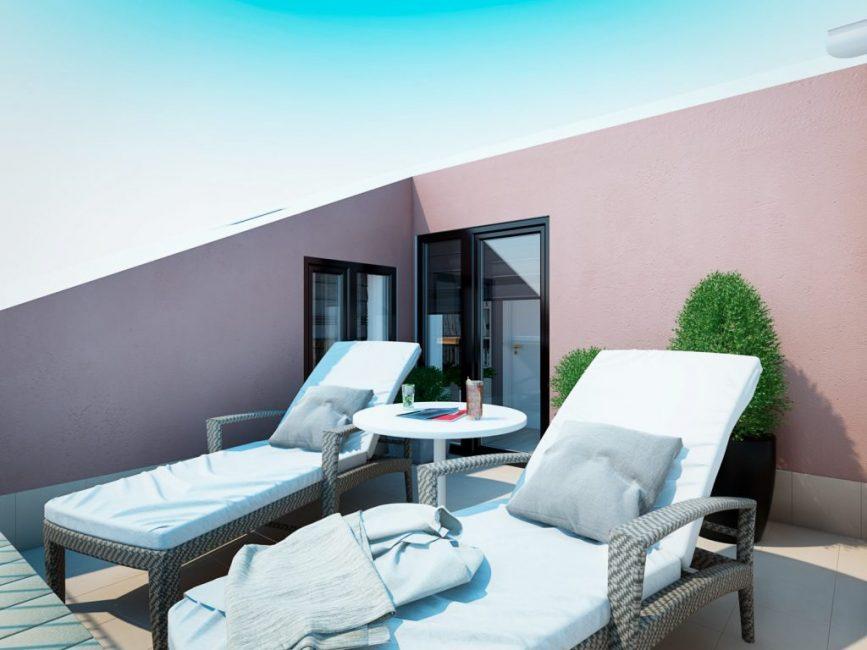 Уголок отдыха — открытый балкон