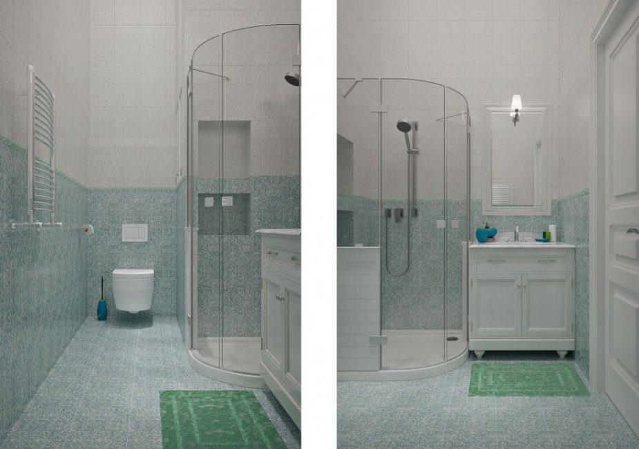 Лаконичная и простая ванная комната в привычном цвете