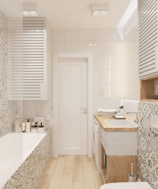 Душевой кабине предпочли ванну