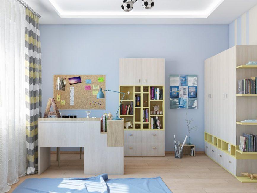 Вся мебель расположена компактно и удобно