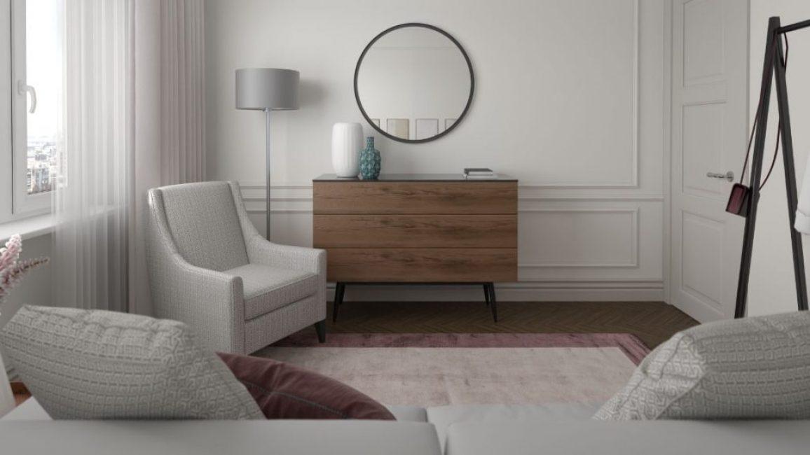 Зеркало и кресло — из стиля модерн