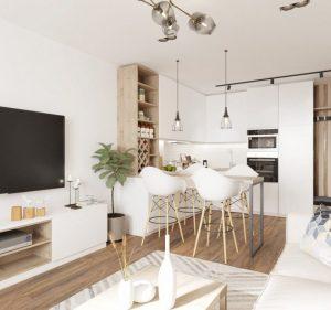 Квартира в скандинавском стиле: простота и лаконичность на 48 м2