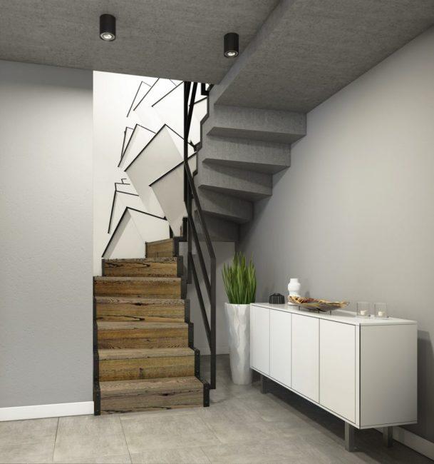 Лестница ан второй этаж квартиры