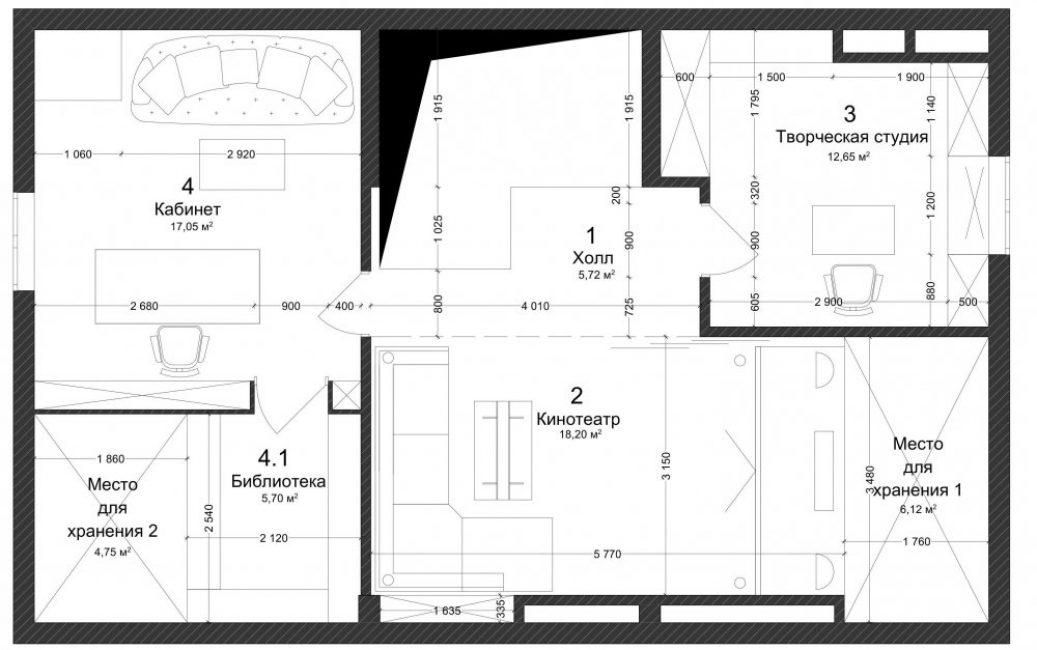 Планировка третьего этажа