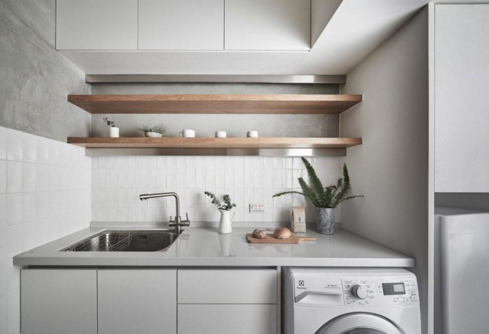 Встроенная кухня со стиральный машиной