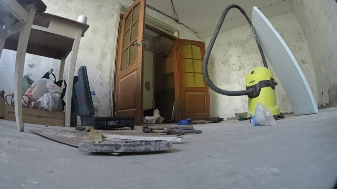 Так квартира выглядела в процессе ремонта