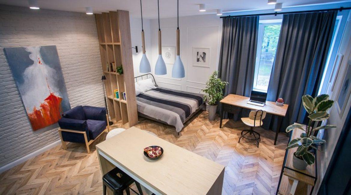 Общий дизайн квартиры смотрится целостно и гармонично