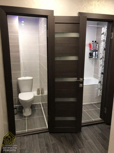 А вот так выглядит ванная комната и туалет после трех месяцев упорной работы