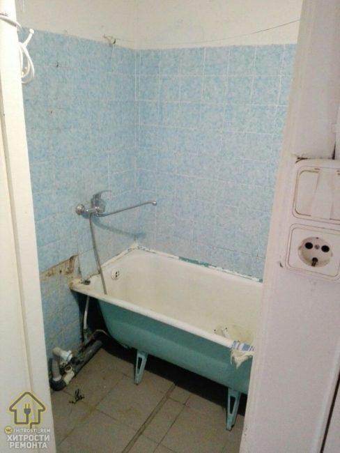 Так ванная выглядела до того, как за нее взялся хозяин квартиры