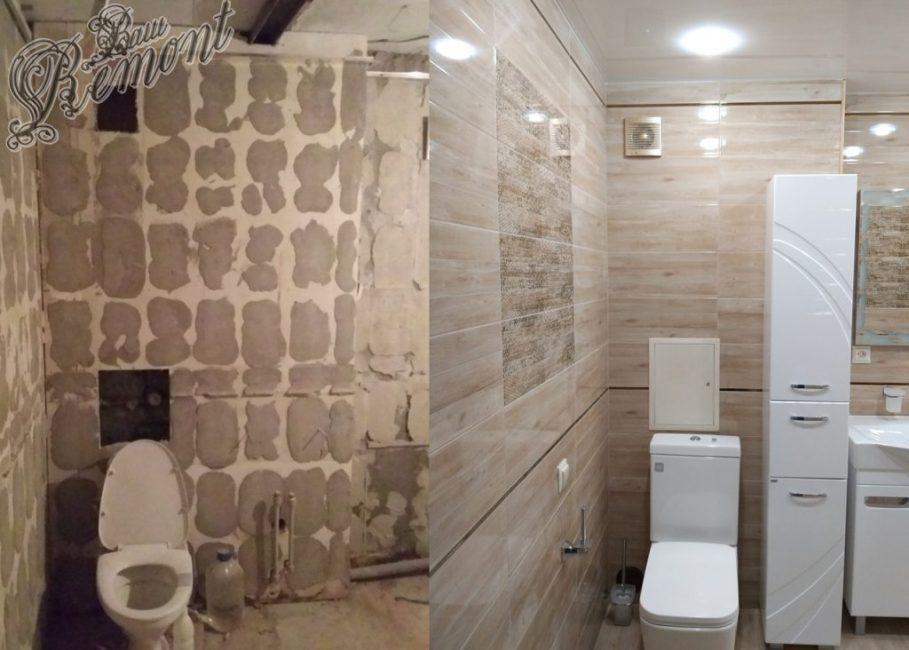 До ремонта ванная комната была довольно пустой. Старая плитка, сантехника, и, конечно же, запахи, которые въелись в стены со временем