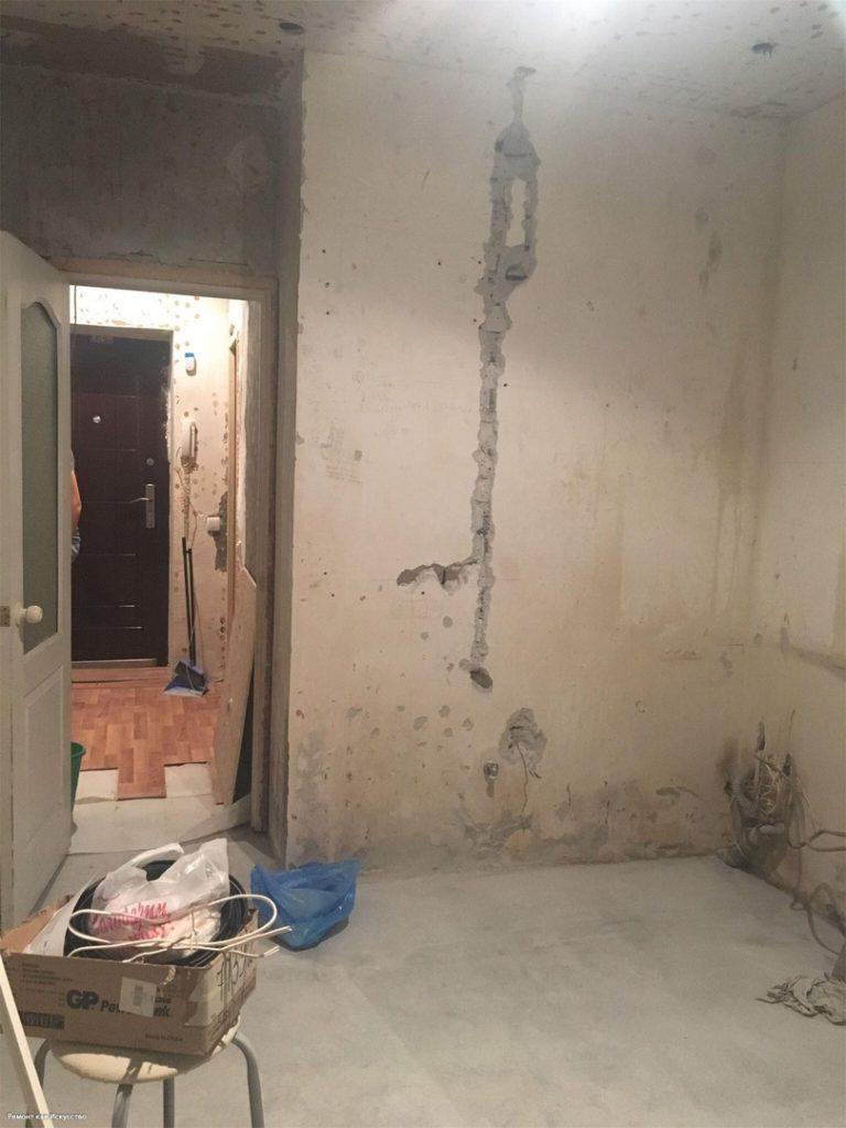 Муж мучился 3 месяца, но сделал жене кухню с декоративным кирпичом. Фото До/После