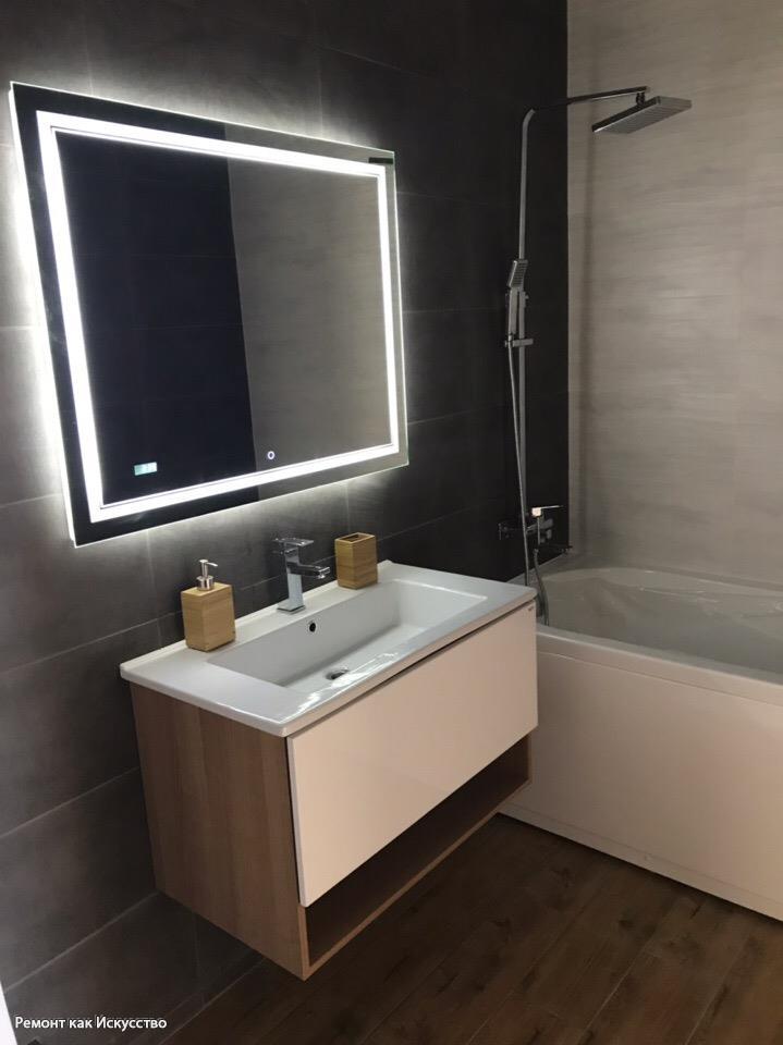 Семья с ребенком решилась на черно-белую ванную в стиле модерн. Фото До/После