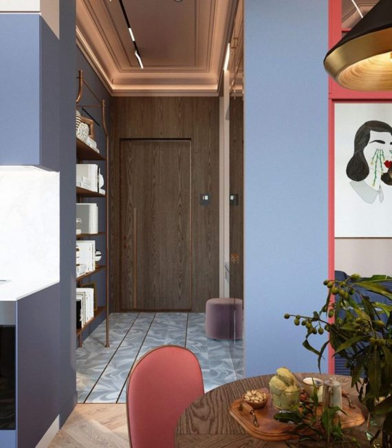 Если присмотреться, то все цвета в квартире перекликаются друг с другом. Все оттенки гармонично подобраны. Каждая мелочь, каждая деталь играет особую, отведенную только для нее роль.