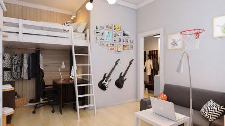 Мини квартира в скандинавском стиле на 21 кв. м. для молодой пары
