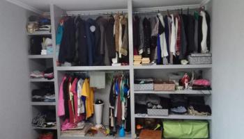 Муж соорудил гардеробную из гипсокартона для своей семьи. Фото До/После