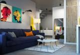 Фантастический конструктивизм: дизайн квартиры с мансардой + открытая терраса