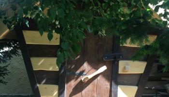 Мужчина вместо туалета на даче сделал «избушку на курьих ножках» с телевизором внутри