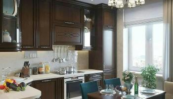 Неповторимый ремонт в кухне в цвете тиффани и с мандалами на стенах